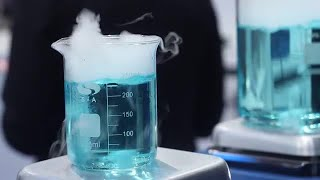 Test Samples Boiling In Laboratory Stock Video