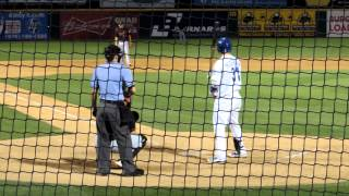 Joc Pederson Breaks Bat, Pops Up