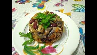 Вкусный и быстрый салат из консервированной фасоли