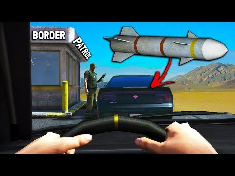 WE FOUND THIS IN A CAR!? | BORDER PATROL in GTA RP