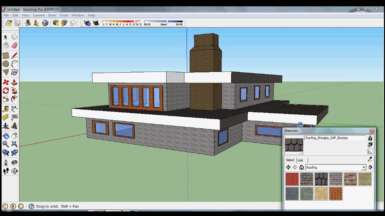 Nice House Design google sketchup: speed design - nice house - youtube