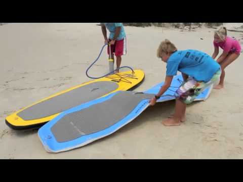 Inflatable stand up paddle board currumbin youtube for Inflatable fishing paddle board