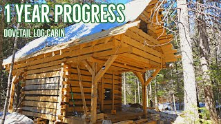Dovetail Log Cabin - One Year  Progress Timelapse