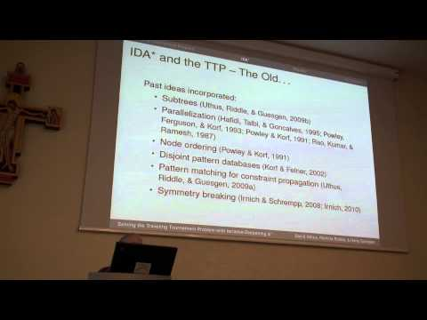 ICAPS 2013: Patricia J. Riddle - Solving the Traveling Tournament Problem with Iterative- ...