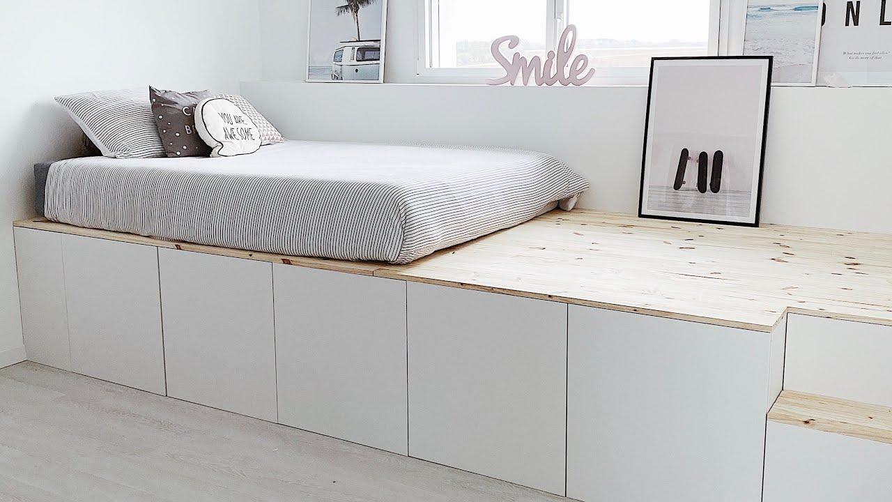 diy on fabrique un lit estrade lit haut platform bed pour laura