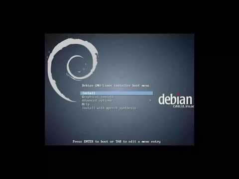 Debian 7.7.0 Wheezy 64bit. KDE Desktop. Graphical install.