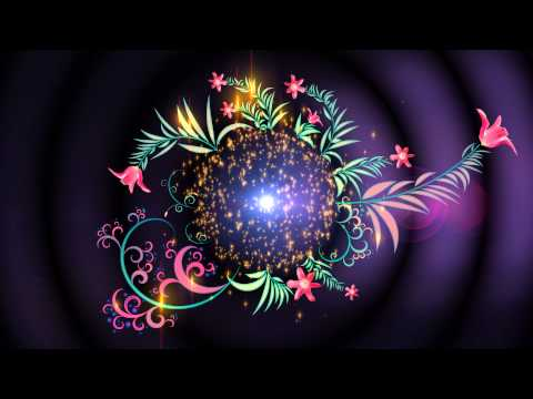4K UHD Floral Magic Intro Animation Screen Background thumbnail