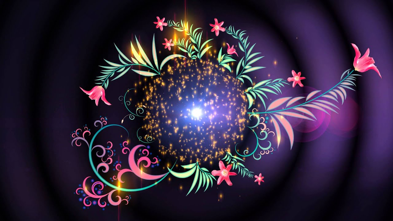 4k uhd floral magic intro animation screen background youtube