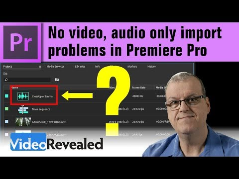 No video, audio only import problems in Premiere Pro