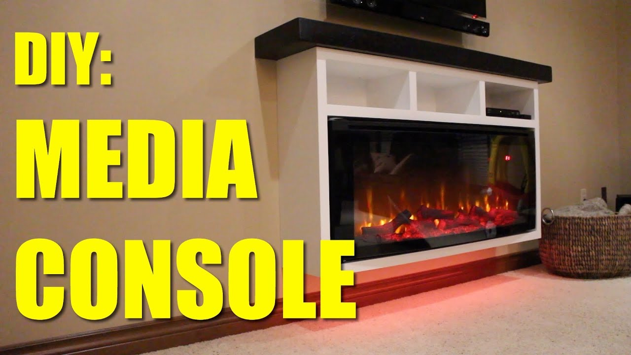How To Build A Electric Fireplace Media Console Youtube