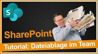 SharePoint Tutorial: Dateiablage im Team