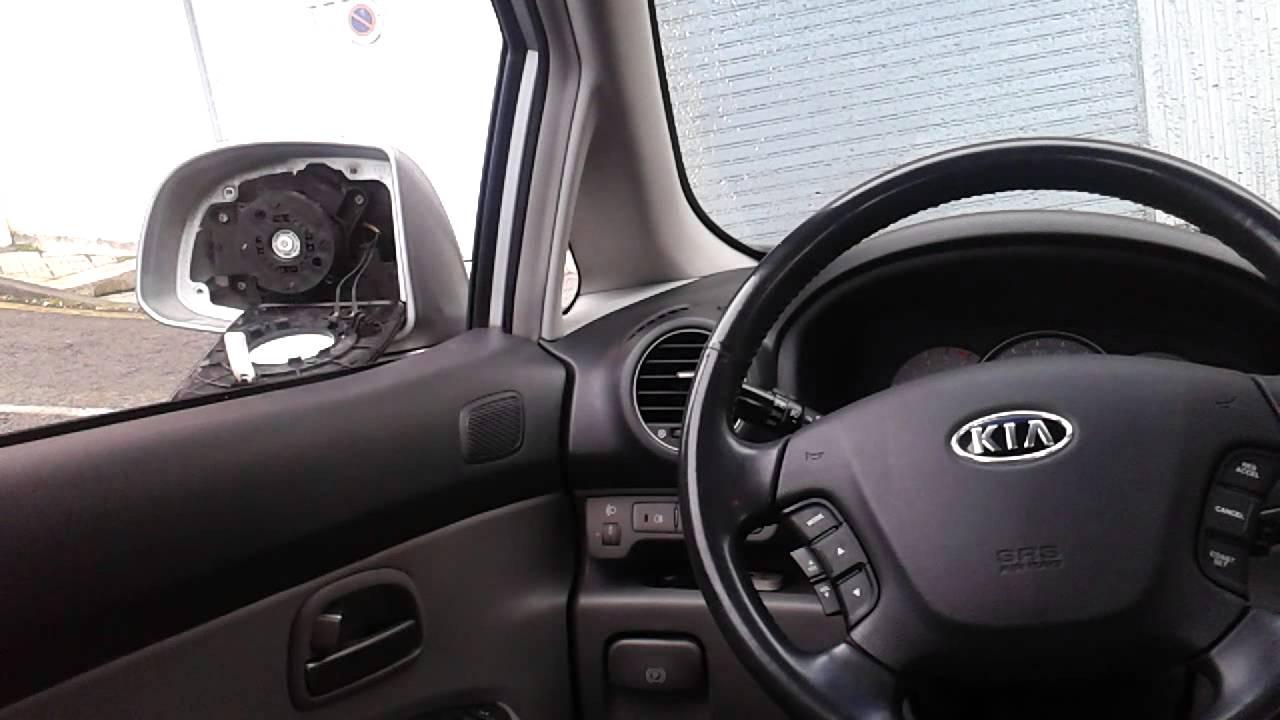Desmontar espejo retrovisor exterior kia carens crdi youtube for Espejo kia sportage