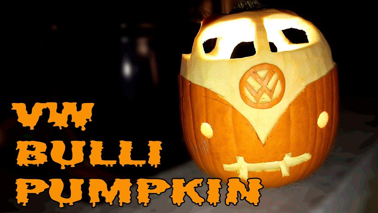 VW T1 BULLI Halloween Kürbis Tutorial - YouTube