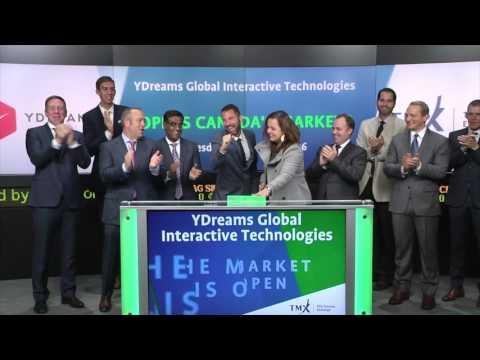 YDreams Global Interactive Technologies Inc. opens TSX Venture Exchange, October 25, 2016