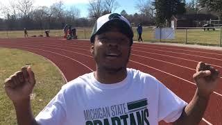 Saginaw High's Tony Martin talks about record-setting long jump