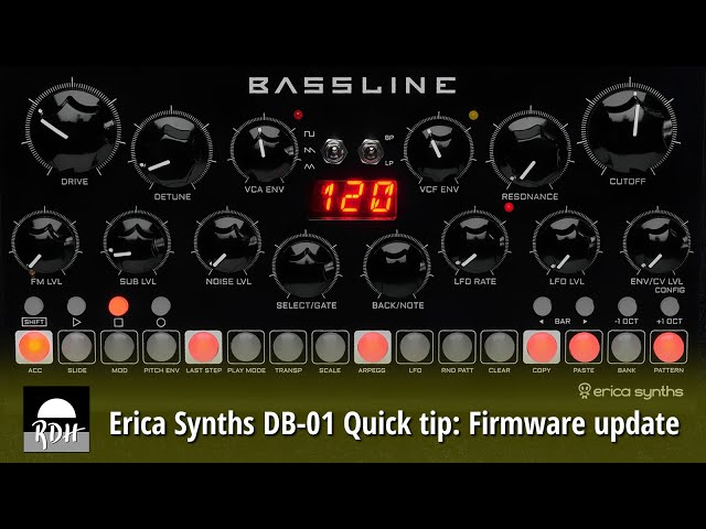 Erica Synths DB-01 quick tip: Updating the firmware