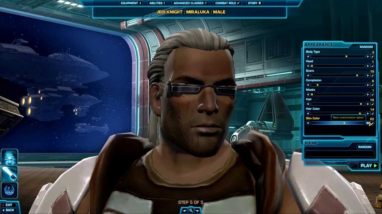 SWTOR - Character Creation + Intro [Jedi Knight/Miraluka