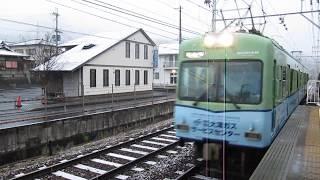 京阪 石山坂本線 600形 ガス広告編成 滋賀里 京阪膳所 20171214