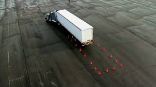 Mooney CDL Training Revised Alley Dock with two free pull-ups for Tractor Trailers and Semi Trucks.