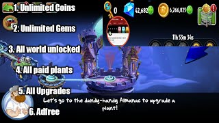 Plants Vs Zombie 2 V 6.4.1 Mod Apk Unlock All World Unlimited Coin,gems And Others
