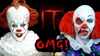 """Old and New Pennywise (Cosplay) invades cinemas! - """"IT"""" early screening in Manila, Philippines:"""