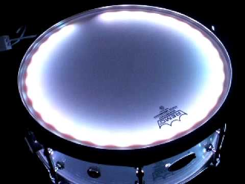 ss custom drums new acrylic glow series snare drum for sale youtube. Black Bedroom Furniture Sets. Home Design Ideas