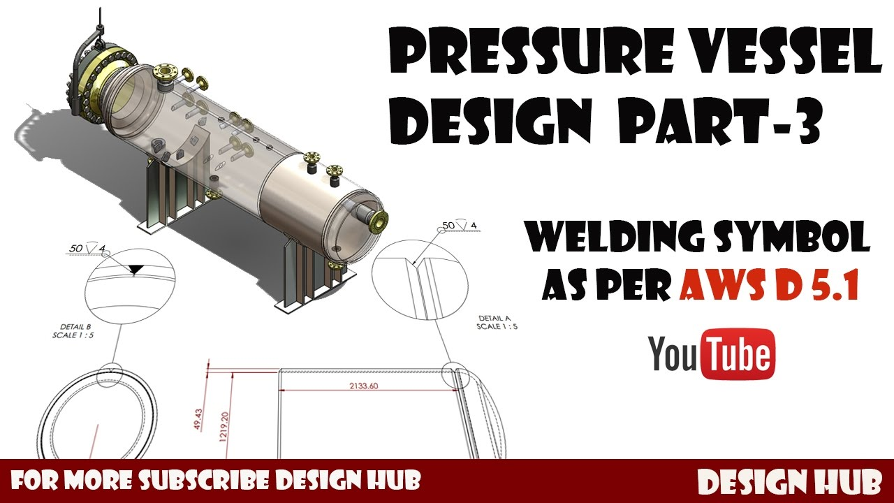 pressure vessel design part 3 welding type and its symbol on drawing [ 1280 x 720 Pixel ]