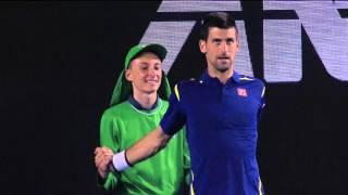 physiotherapist or ball kid djokovic   australian open 2016