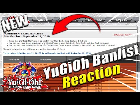 Yu-Gi-Oh! BAN LIST IS OUT! Live Reaction To September 2018 Banlist! Konami Frees Stratos & More!