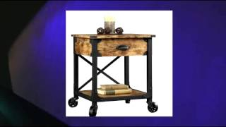 Better Homes And Gardens Rustic Country Side Table Storage Drawer Antiqued Black Pine