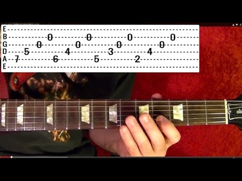 ENTER SANDMAN 🔷 Metallica (1 of 2)🔷 Guitar Lesson