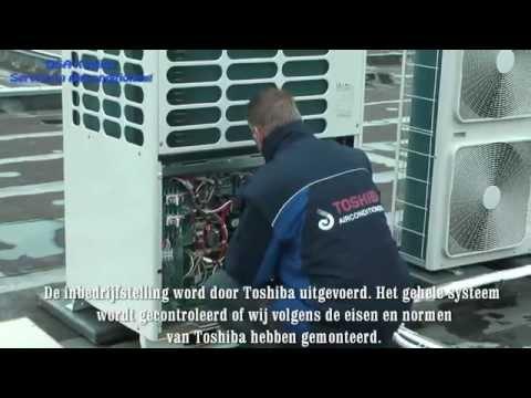 Montage Airconditioning Toshiba VRF-systeem DSA Klimaat- & Energiebeheer Te Gemert