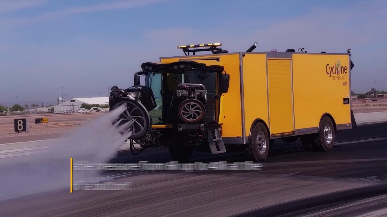 Cyclone 4006AC- Runway Paint & Rubber Removal - Bortek Industries, Inc ®
