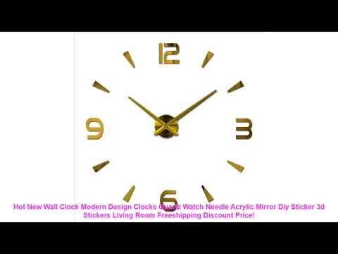 Hot New Wall Clock Modern Design Clocks Quartz Watch Needle Acrylic Mi