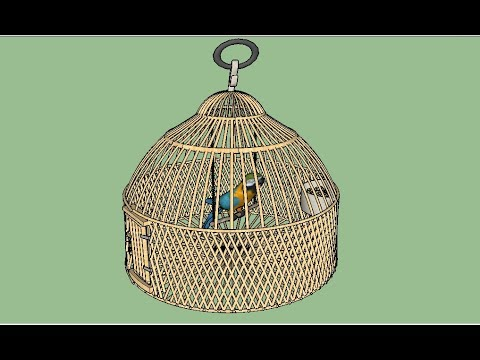 Parrot  Cage making on sketchup faster sketchup 2017