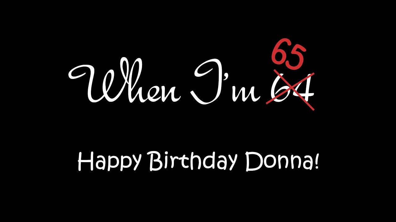 Donnas 65th Birthday Surprise