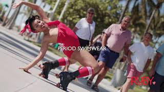Miami Skater Loves Ruby Love Period Swimwear + Leak-proof with all day maximum protection!