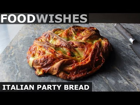 Italian Party Bread – Meat & Cheese Stuffed Wreath – Food Wishes