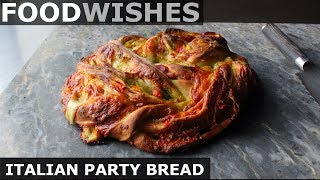 Italian Party Bread - Meat & Cheese Stuffed Wreath - Food Wishes