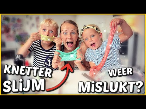 ZELF KNETTER SLiJM MAKEN 🎊   Bellinga Familie Vloggers #1449