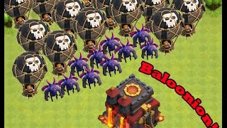 Clash of clans - ep 13 - Baloonon attack and new clan!