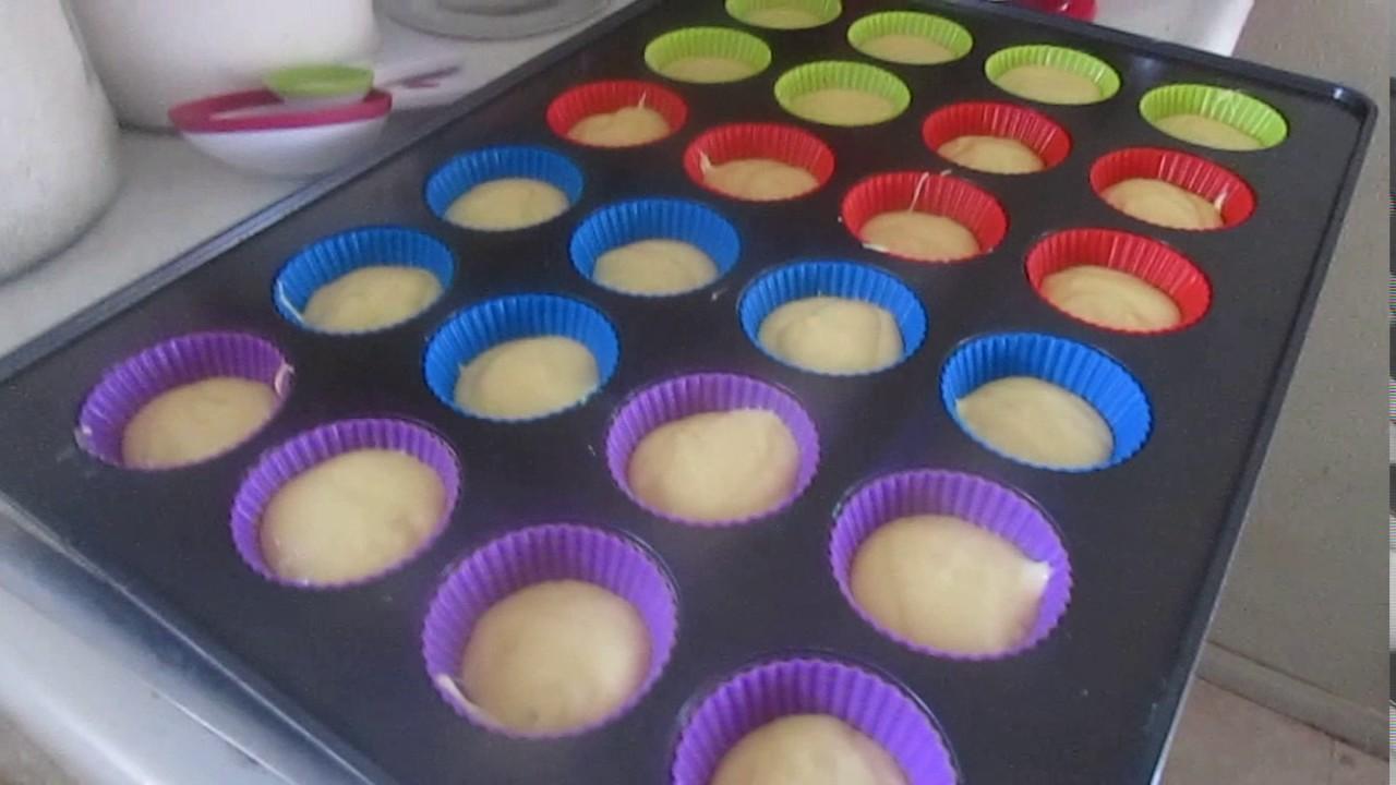 Usando Moldes De Silicona Para Cupcakes Por Primera Ves Youtube