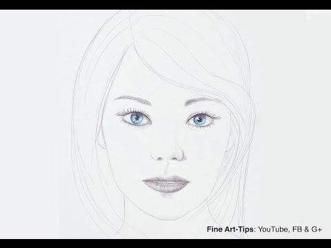 How to Draw Emma Stone - Minimalistic Portrait