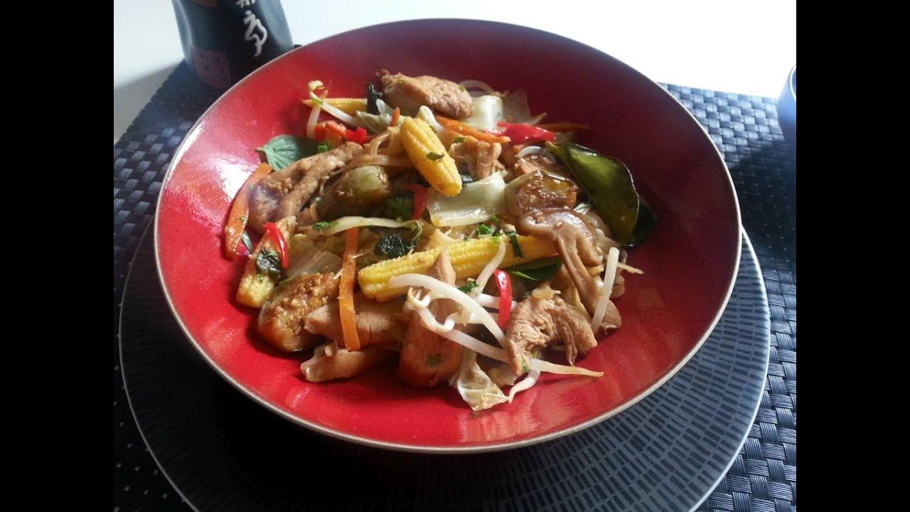 Cuisine asiatique poulet pad thai ma fa on youtube - Cuisine thai pour debutants ...