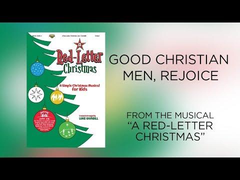 Good Christian Men, Rejoice (Lyric Video) | A Red-Letter Christmas [Simple Christmas Kids]