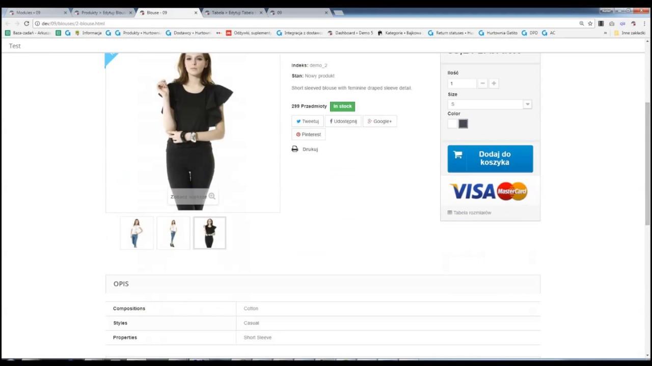 167b179fd602ff PrestaShop Moduł Moduł tabela rozmiarów PrestaShop - zarządzanie sklepem