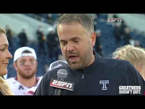 Temple Football American Athletic Conference Trophy Presentation