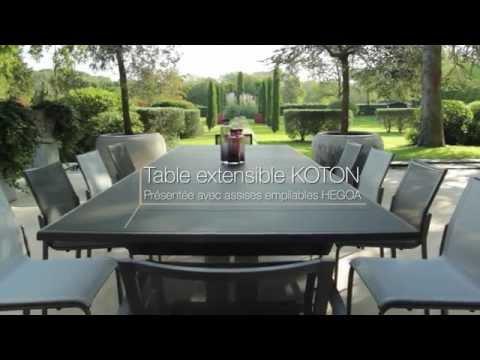 Table extensible KOTON - Les Jardins© Tables de jardin haut ...