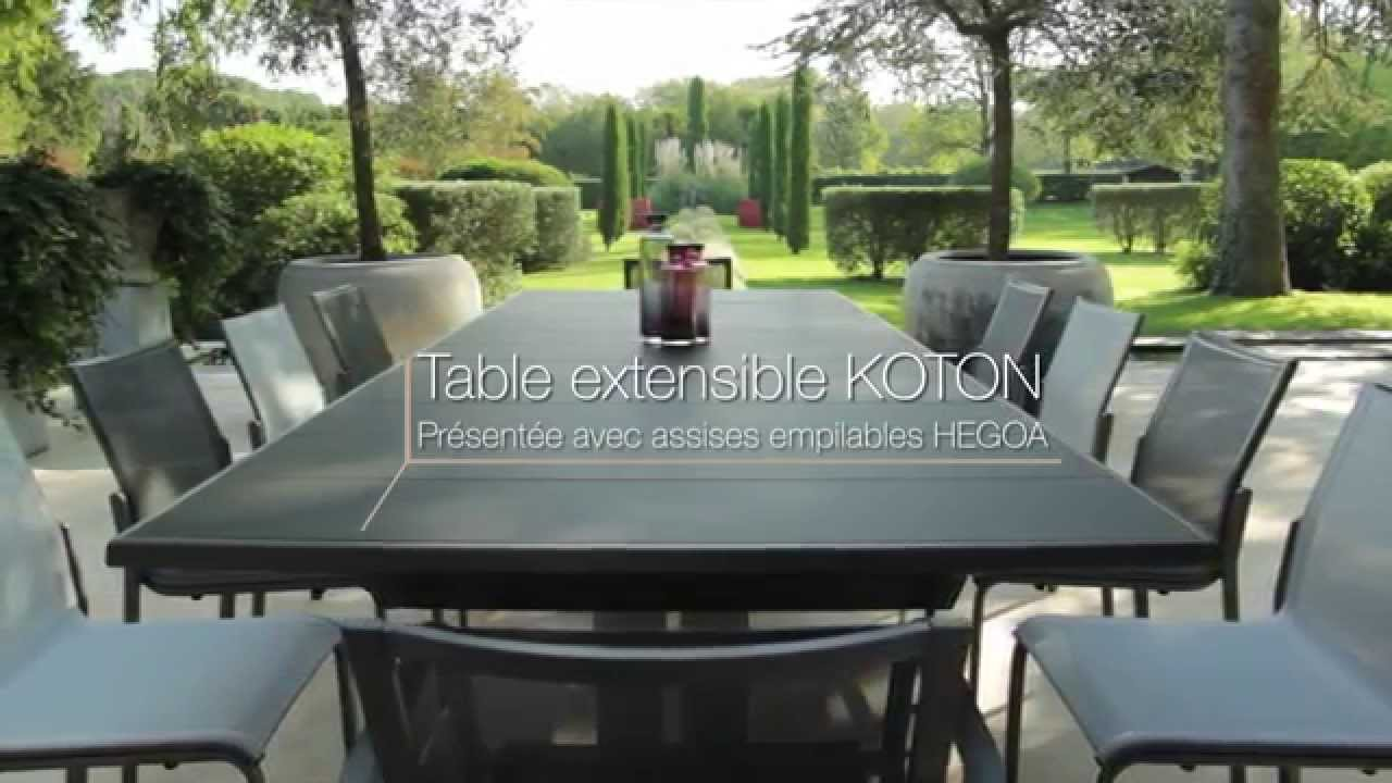 table extensible koton les jardins tables de jardin haut de gamme youtube. Black Bedroom Furniture Sets. Home Design Ideas