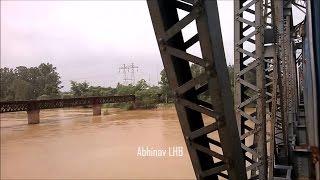 Explore Punjab: Dhilwan to Beas Jn| Crossing River BEAS | Chandigarh - Amritsar LHB Intercity